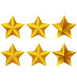 Stylish Star Icons vector image
