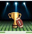 american football sport icon vector image