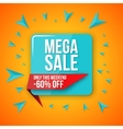 Big sale banner 60 off best offer vector image