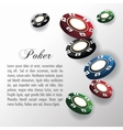Chips for poker and casino game design vector image
