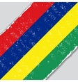 Mauritius grunge flag vector image vector image