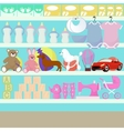 Children goods shop vector image