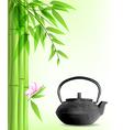 Green bamboo and tea vector image