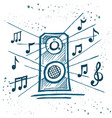 music speakers play music vector image vector image