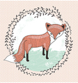 Cute little fox for children vector image