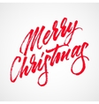Red Abstract Merry Christmas Lettering vector image vector image