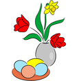 Easter composition vector image vector image