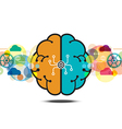 brain process creative concept vector image