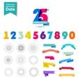 set of anniversary numbers design Create vector image