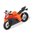 Bike Icon in Isometric Projection vector image