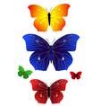 bright butterflies vector image