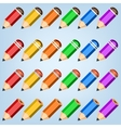 Color pencil collection vector image