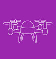 drone linear vector image