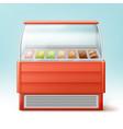ice cream fridge vector image