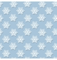 seamless pattern with White snowflakes on a blue vector image