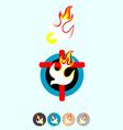 Set Icon of Holy spirit vector image