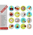 Set of modern business and finance flat icons vector image