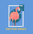 summertime print with the flamingo vector image