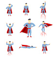 Superhero comic book style page cartoon pose vector image