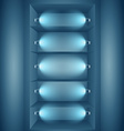 display lights wall with lights vector image vector image