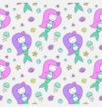 mermaids seamless pattern vector image