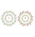 Floral circle set vector image