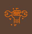 plumbing service logo vector image