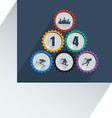 Olympic gear wheel vector image
