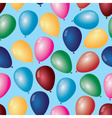 colorful balloons with helium pattern eps10 vector image