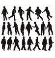 boys silhouettes vector image vector image