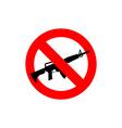 Stop machine gun It is forbidden to shoot Frozen vector image