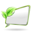 Banner with green leaf vector image