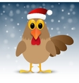 Christmas background with rooster vector image