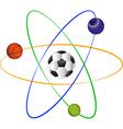 Football atom design vector image