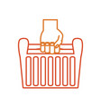 hand with tool box vector image