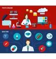 Medical laboratory 2 flat banners set vector image
