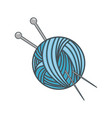 needle and wool vector image