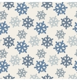 seamless pattern with colorful snowflakes in blue vector image