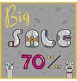 Big Sale seventy percents Artistic font vector image