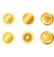golden suns vector image vector image