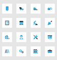 building colorful icons set collection of vector image