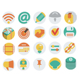 Icons in Flat Design vector image