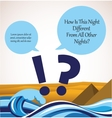 haggadah question song passover card vector image