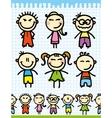 cartoon doodle kids vector image vector image