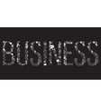 Decorative elements of the word business vector image