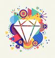 Diamond icon luxury concept color shape background vector image vector image