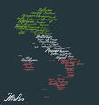 Italy map with city names vector image