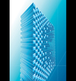 Blue Structure Abstract vector image vector image
