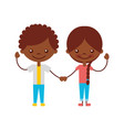 cute black kids characters icon vector image