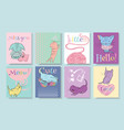 little kitten banners vector image